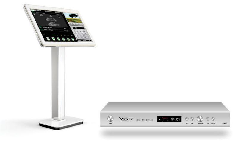 Bộ đầu màn VietKtv HD Pro 4T + màn 21,5 inch