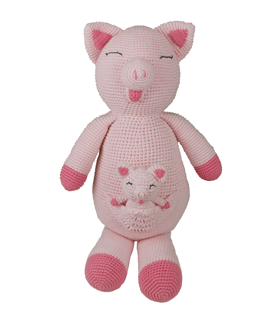 Heo Mẹ bồng con Pinky Pig and Baby Pig