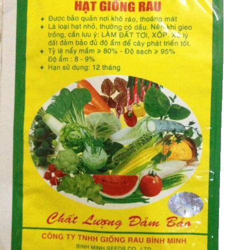 Bao bì hạt giống rau Bình Minh