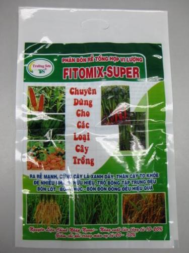 Bao bì phân bón vi lương FITOMIX SUPER