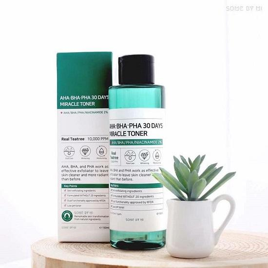 Nước Hoa Hồng AHA BHA PHA 30 Days Miracle Toner Some by Mi 150ML