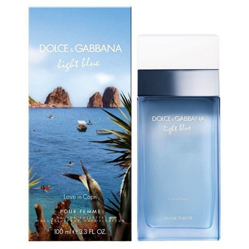 D&G Light Blue Love In Capri for women