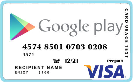 Visa Trả Trươc Google Play