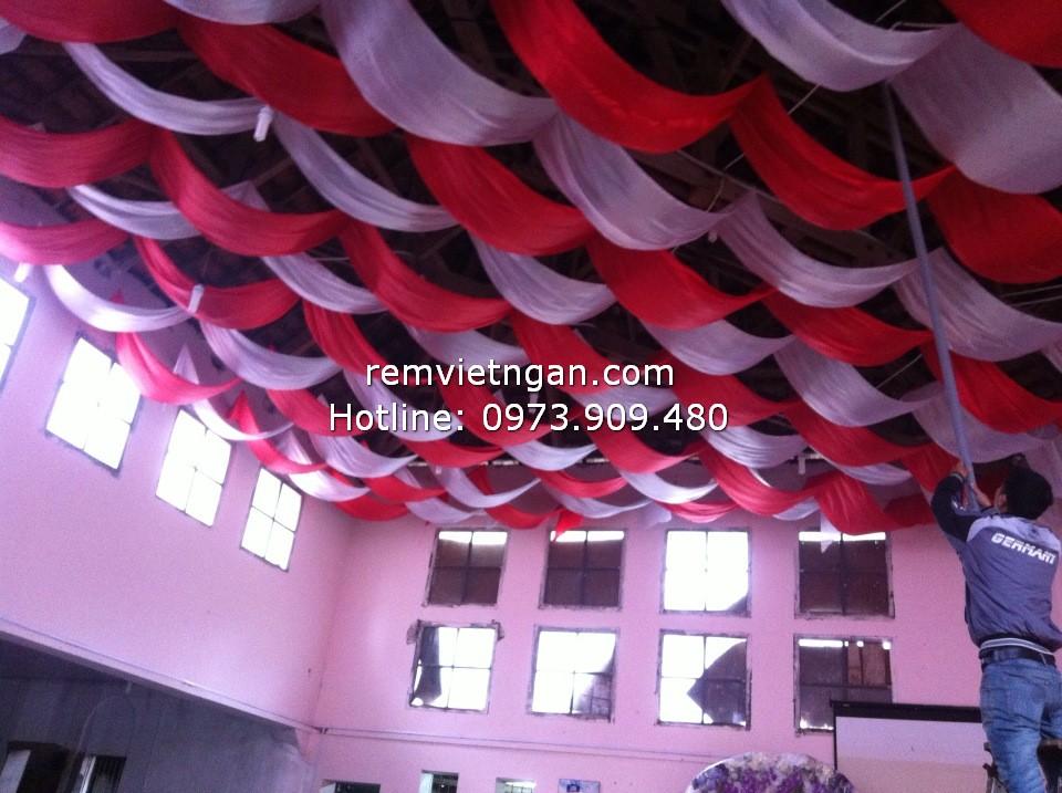 Rèm trần nhà hàng tiệc cưới Cổ Nhuế