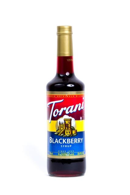 Syrup Torani blackberry.