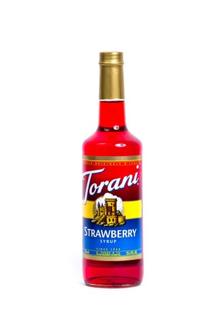 Syrup Torani strawberry.