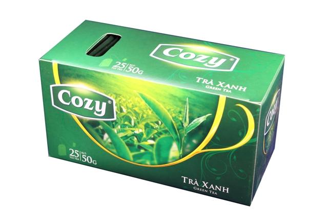 Trà túi lọc Cozy hương trà xanh.