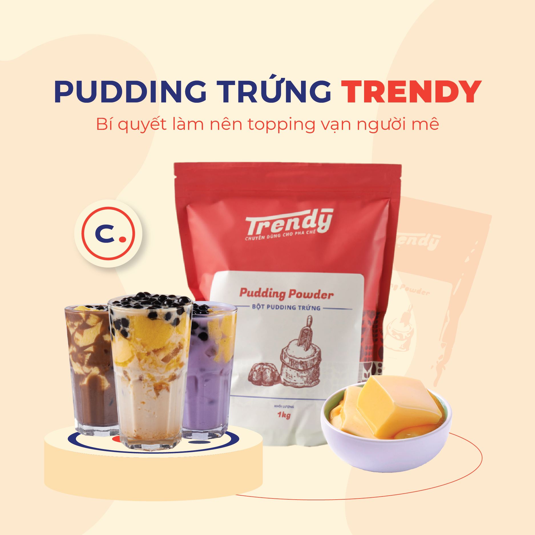 Pudding trứng TRENDY