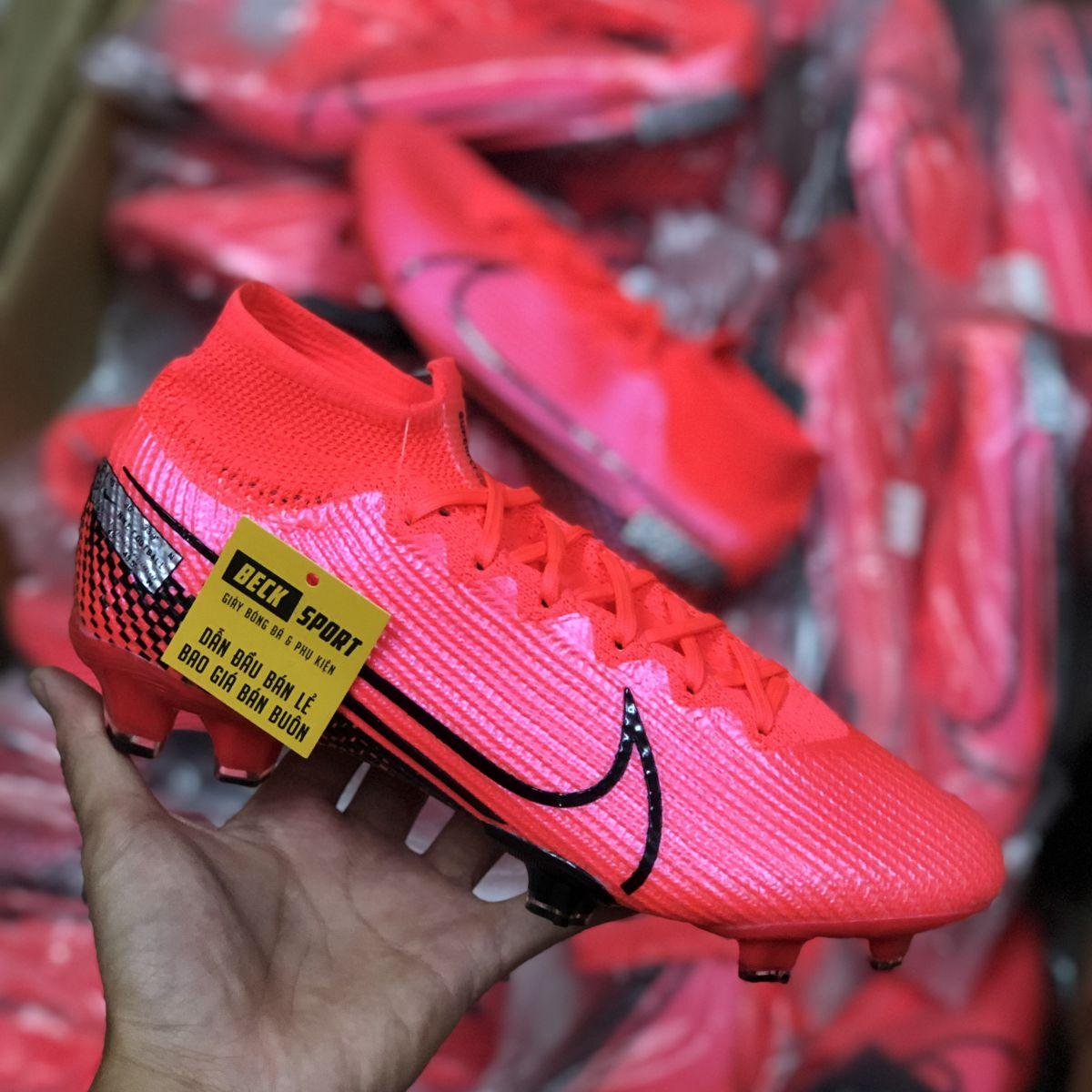 Giày Bóng Đá Nike Mercurial Superfly 7 Elite Đỏ Vạch Đen Cao Cổ FG