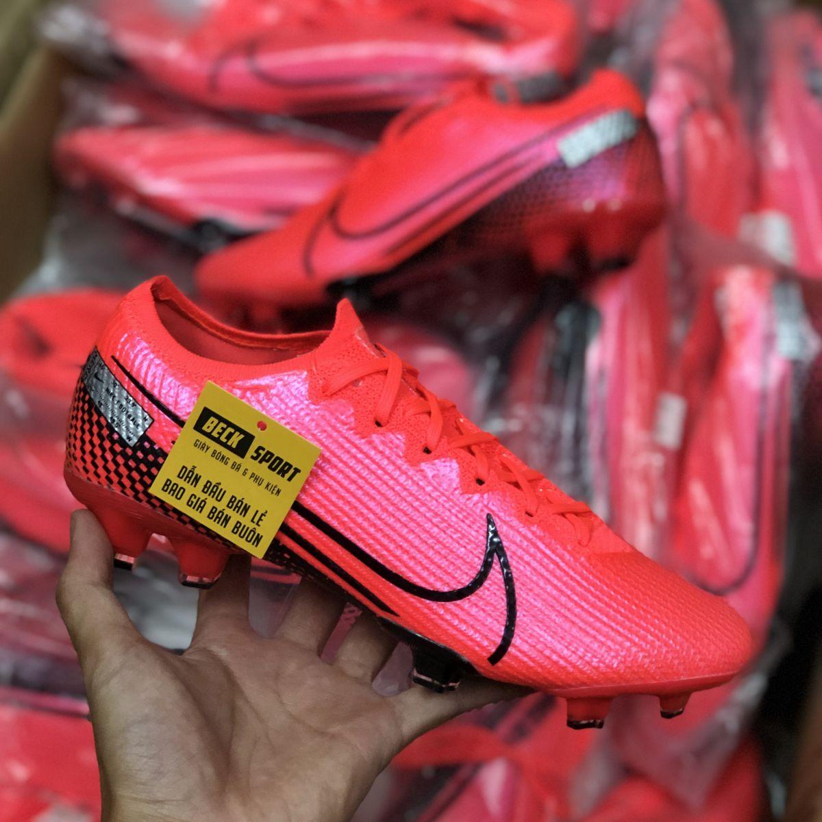 Giày Bóng Đá Nike Mercurial Vapor 13 Elite Đỏ Vạch Đen FG