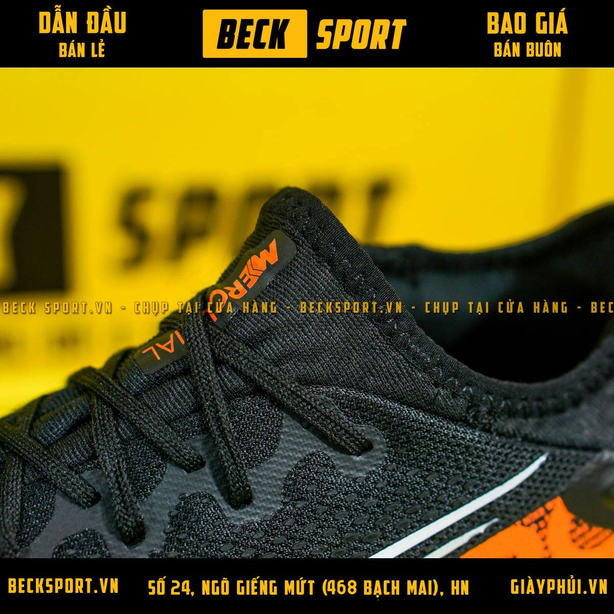 Giày Bóng Đá Nike Mercurial Vapor 13 Pro Đen Cam Vạch Trắng V2 TF