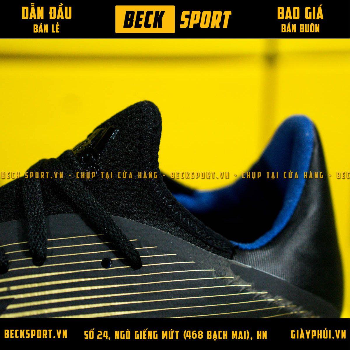 Giày Bóng Đá Adidas X 19.3 Đen Đồng HQ TF