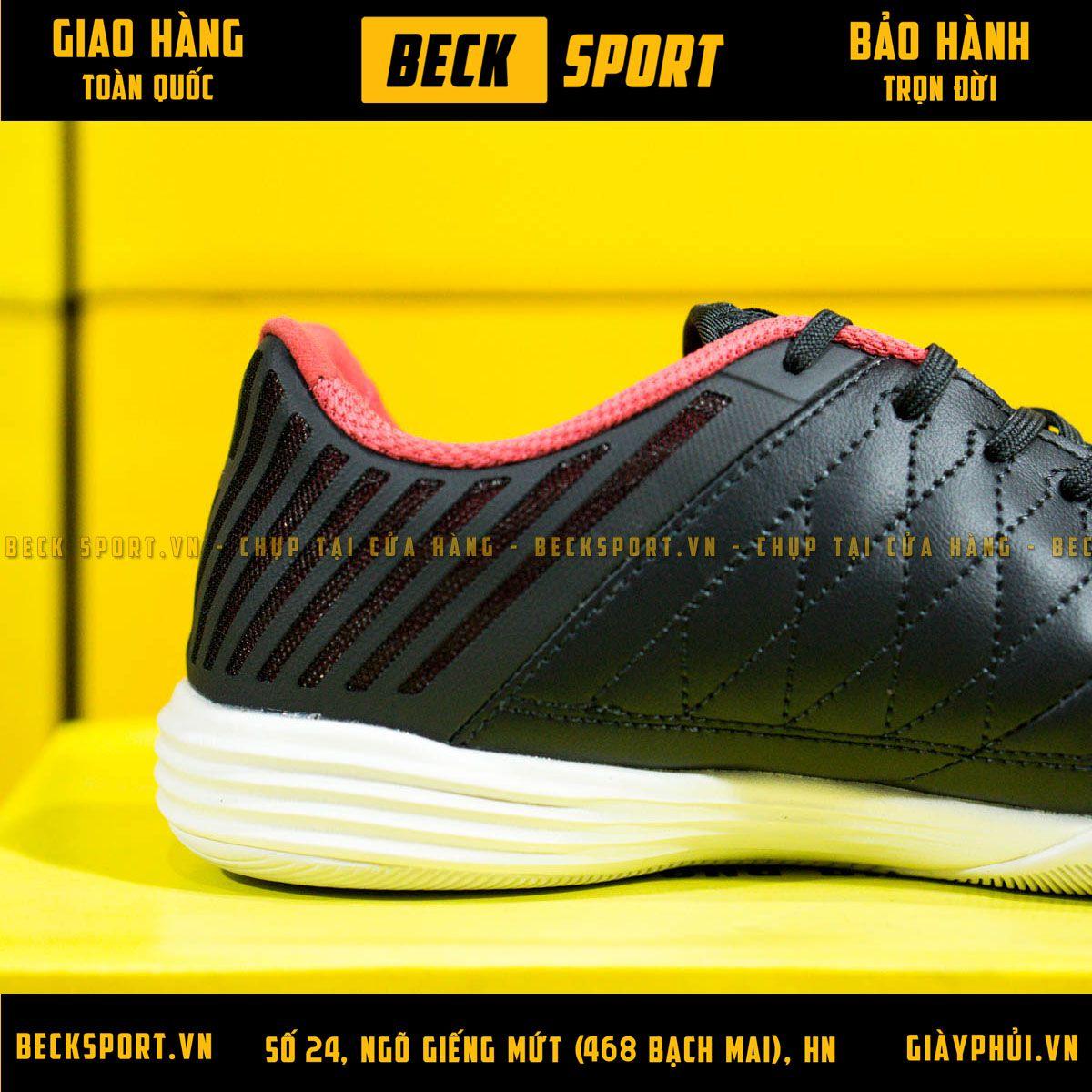 Giày Bóng Đá Nike Lunar Gato II Đen Vạch Đỏ IC