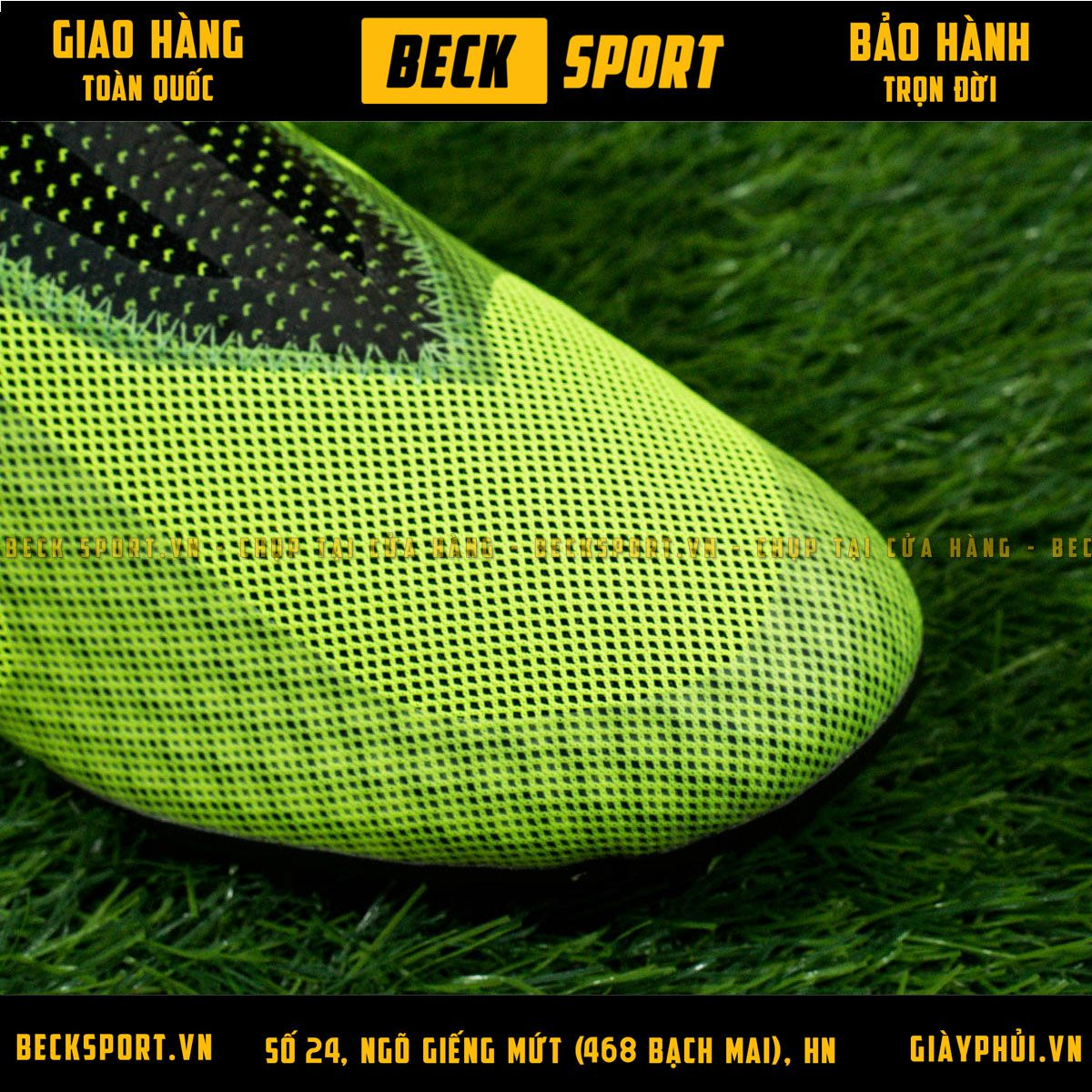 Giày Bóng Đá Adidas X Tango 17+ Purespeed Xanh Lá Không Dây TF