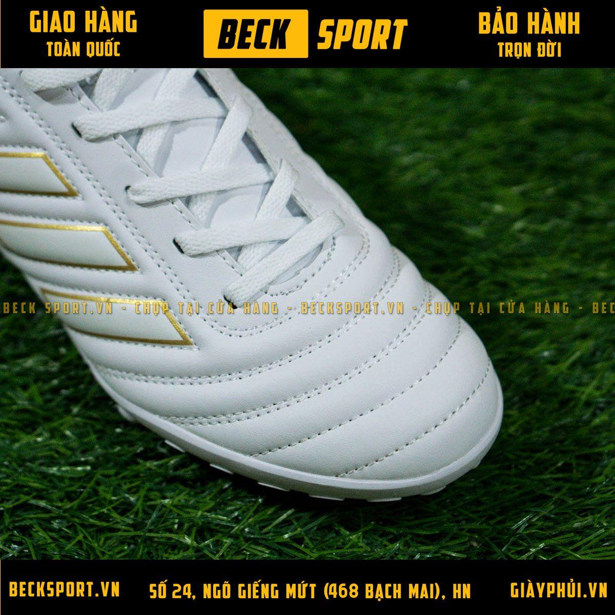 Giày Bóng Đá Adidas Copa 19.4 Trắng Vạch Đồng TF