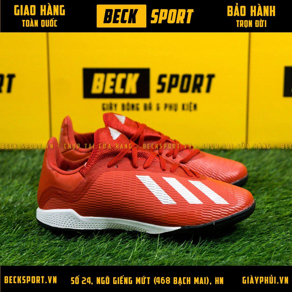 Giày Bóng Đá Adidas X 18.3 Đỏ Vạch Bạc TF