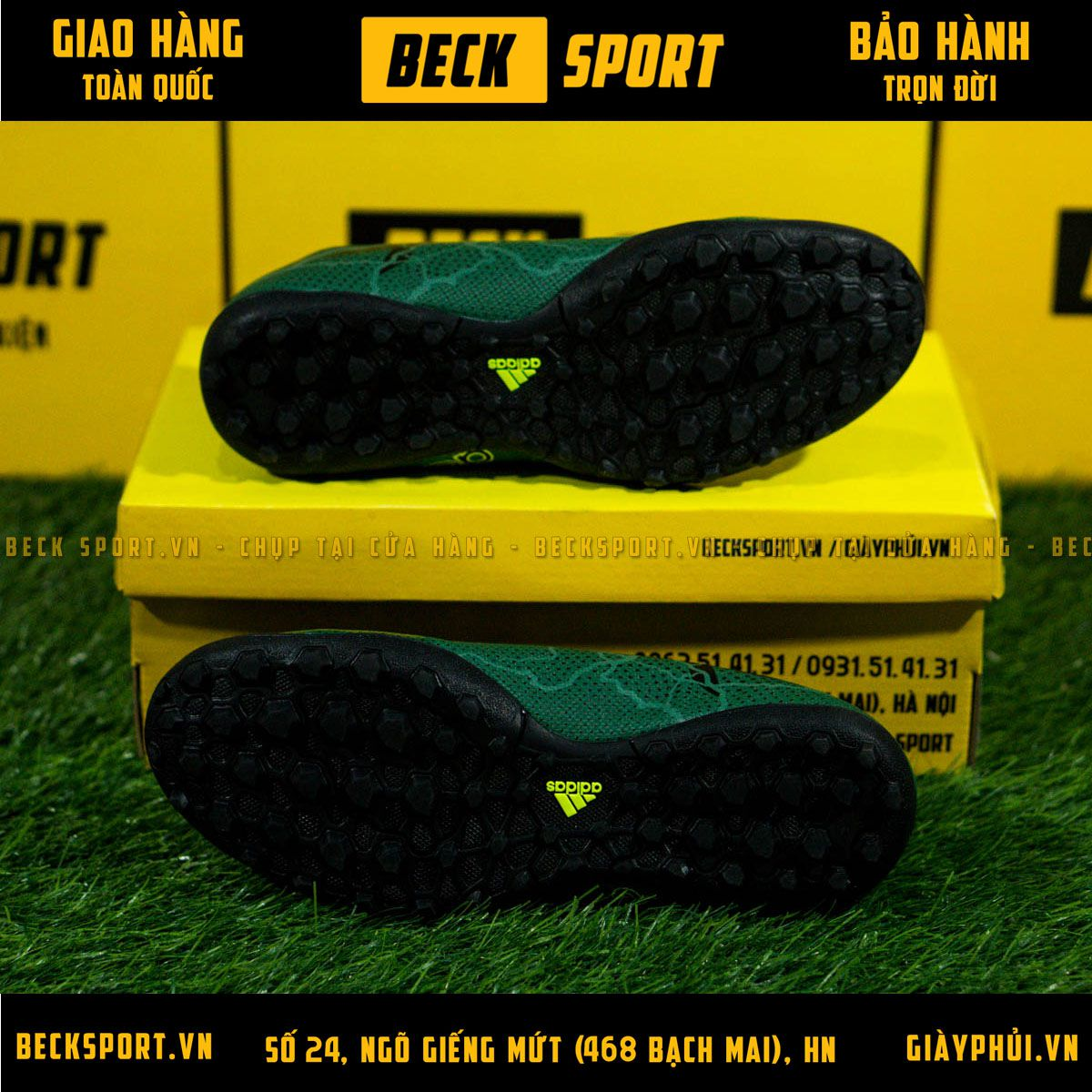Giày bóng đáAdidas X 17.3Xanh Rêu Sét TF