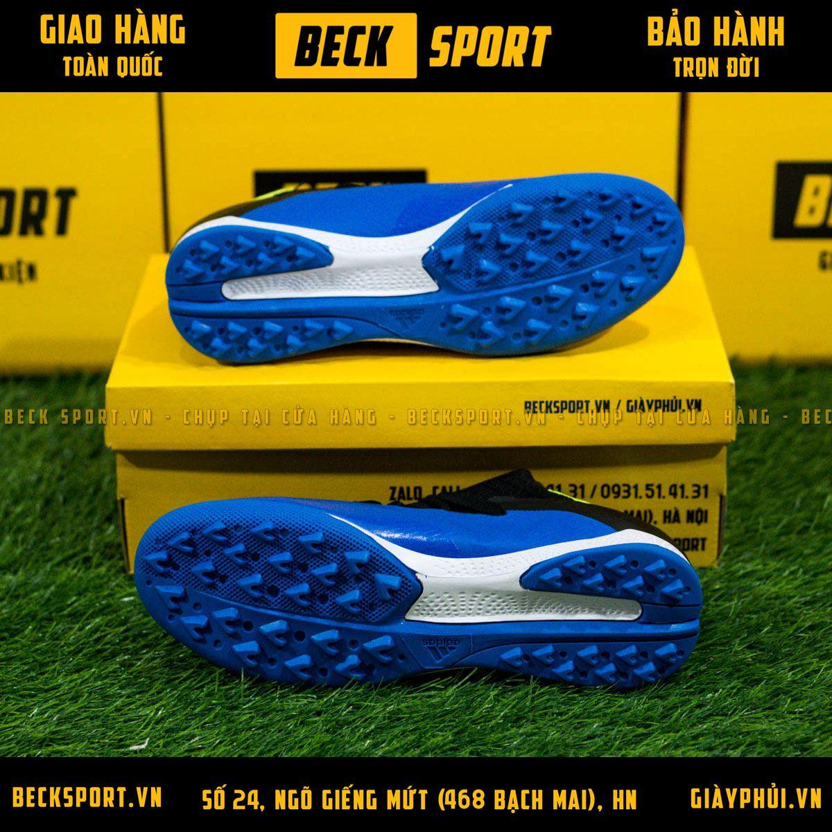 Giày Bóng Đá Adidas X 19.3 Xanh Biển Vạch Chuối TF