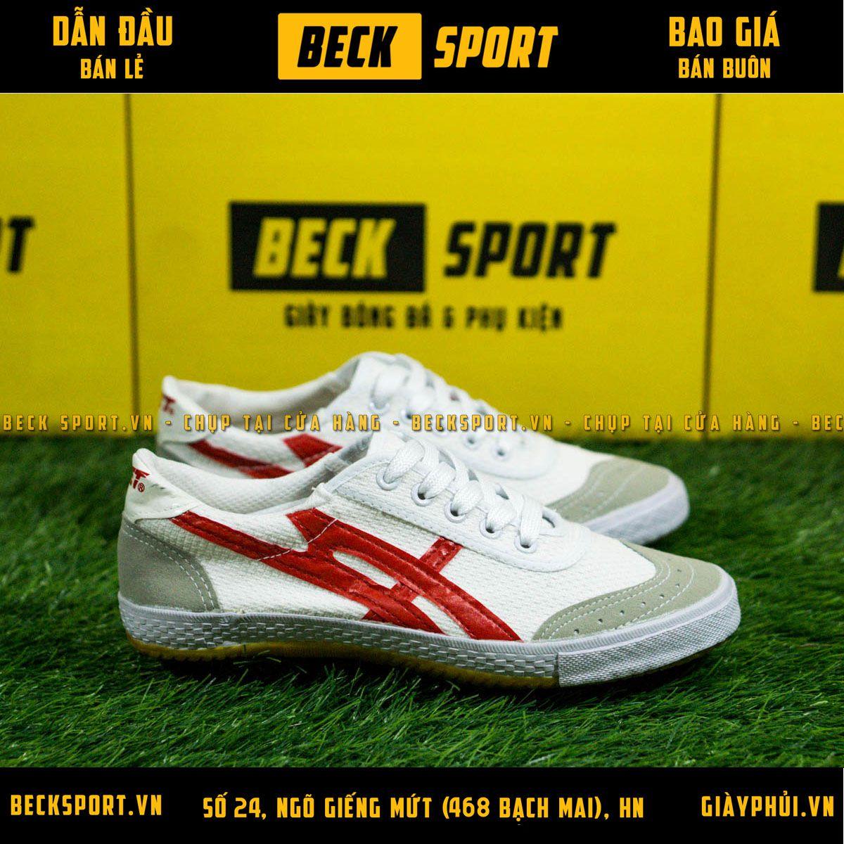 Giày Bata Chính Hãng Động Lực Ebet 6494 Trắng Đỏ