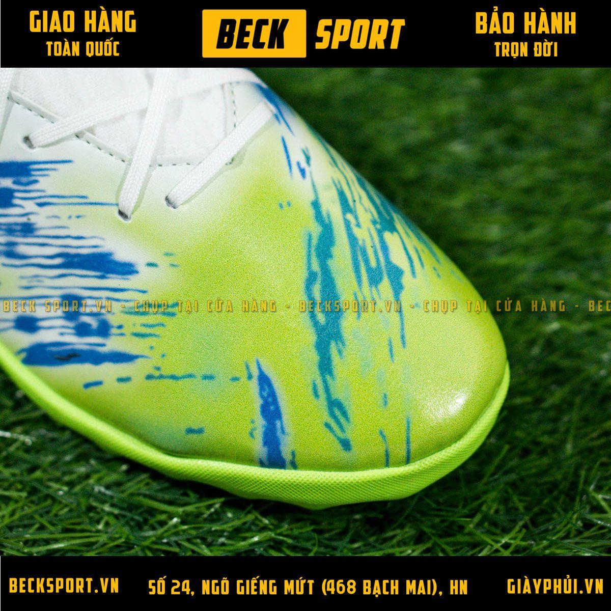 Giày Bóng Đá Adidas Nemeziz 19.3 Trắng Nõn Chuối Vạch Đen Đế Chuối Cao Cổ TF