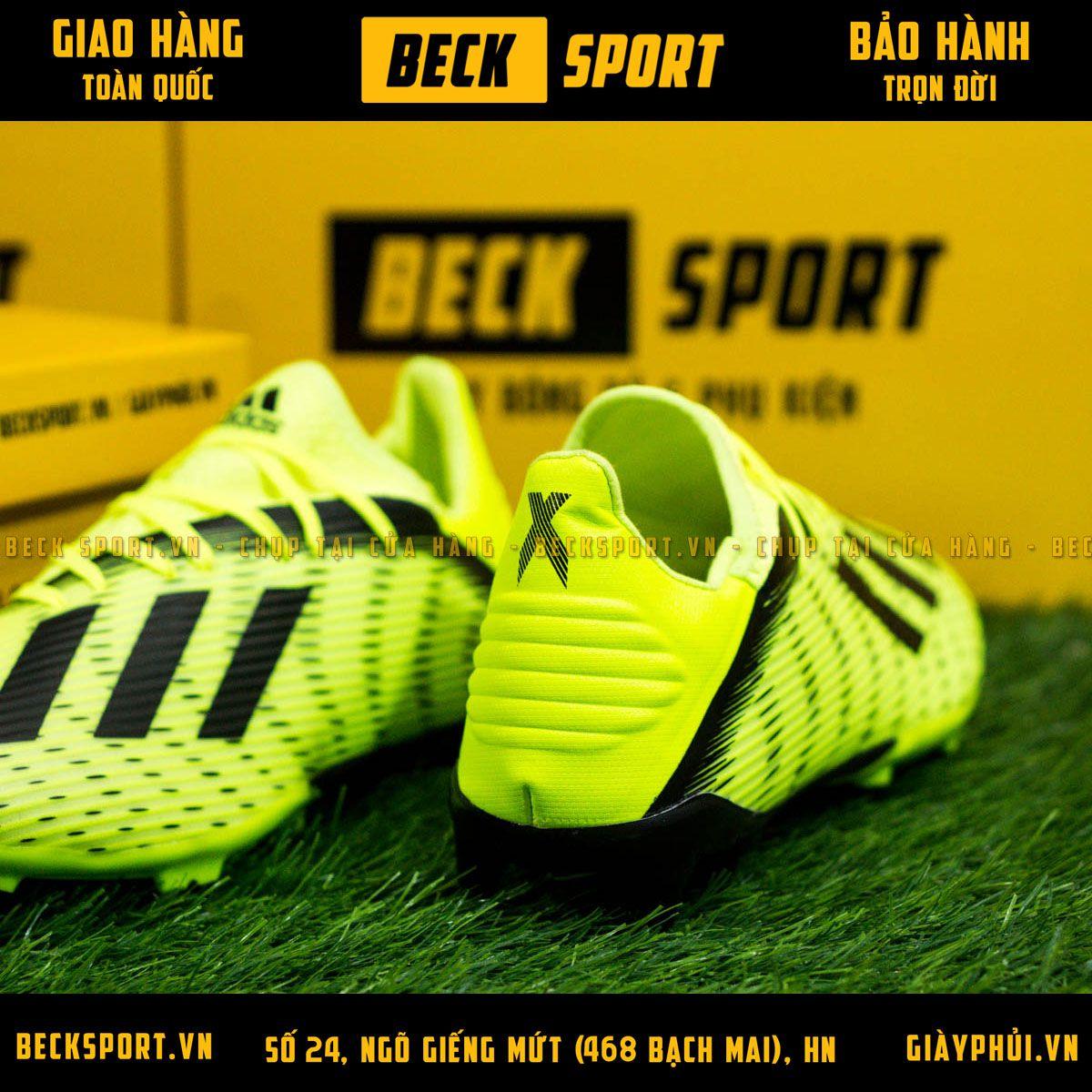 Giày Bóng Đá Adidas X 19.3 Nõn Chuối Vạch Đen FG