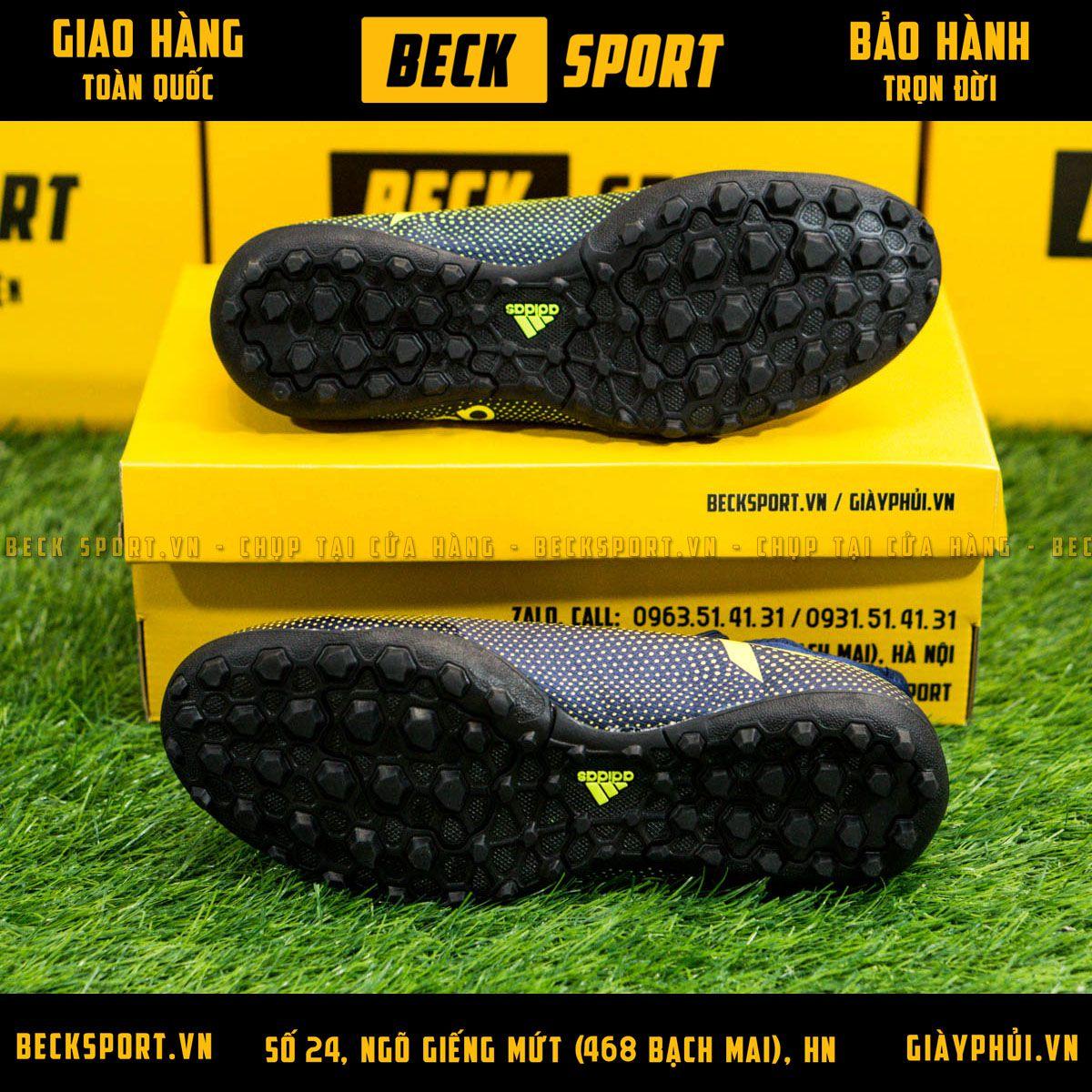 Giày Bóng Đá Adidas X 17.3 Xanh Rêu Chấm Bi TF