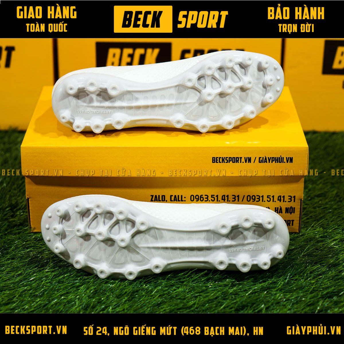 Giày Bóng Đá TQ Adidas X 18.3 Trắng Tuyền AG