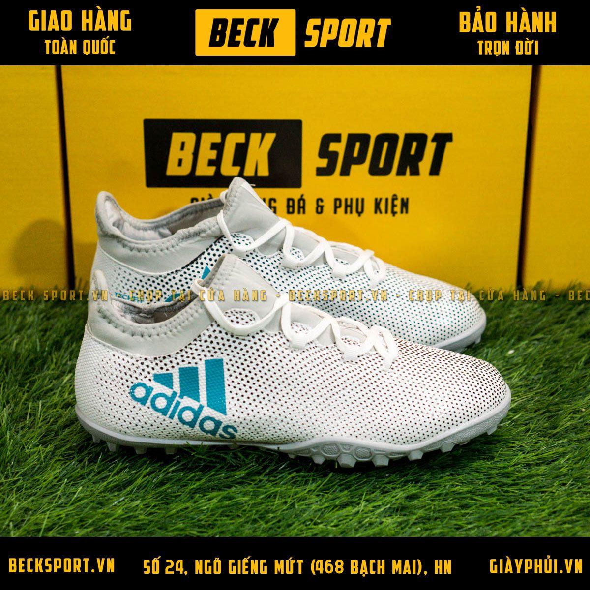 Giày Bóng Đá Adidas X 17.3 Trắng Chấm Bi Đen TF