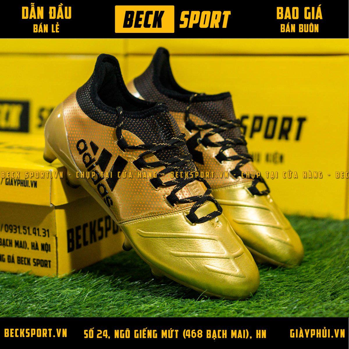 Giày Bóng Đá Adidas X 17.3 Đồng Chấm Bi Đen FG
