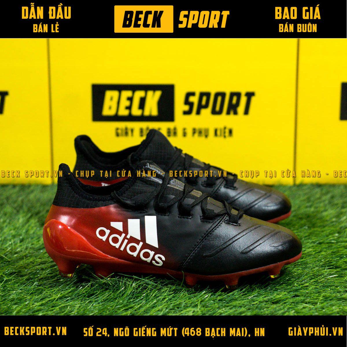 Giày Bóng Đá Trẻ Em Adidas X 17.3 Đen Gót Đỏ FG