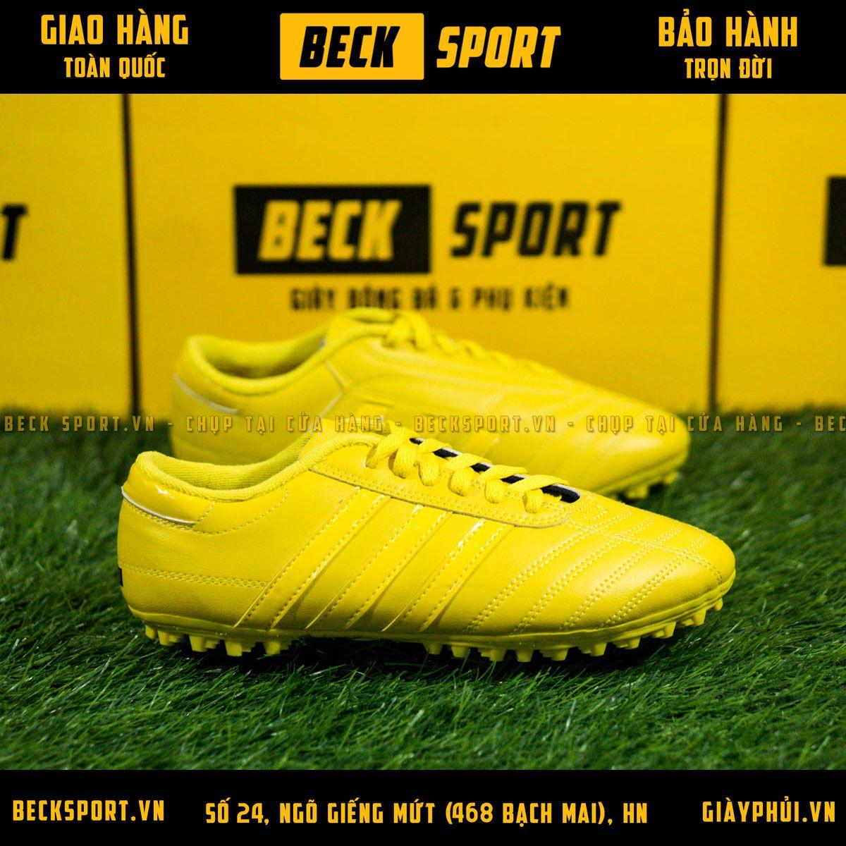 Giày Phủi 3 Sọc Loại 1 - Beck Vàng Sọc Vàng