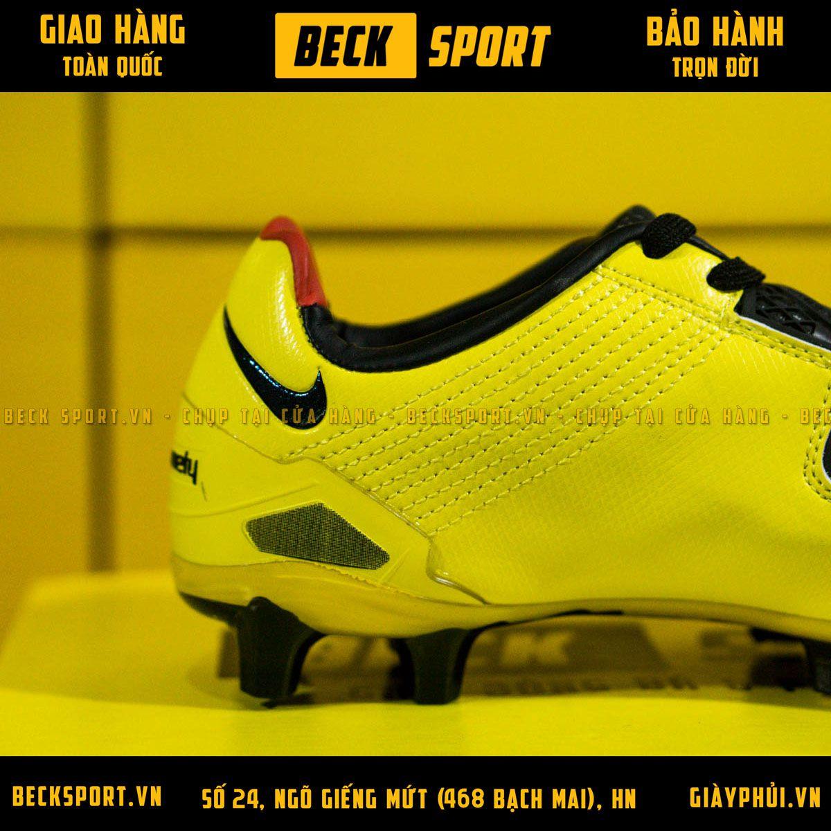 Giày Bóng Đá Nike T90 Laser Vàng Vạch Đen FG
