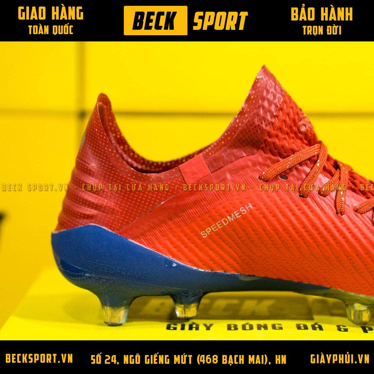 Giày Bóng Đá Adidas X 19.1 Đỏ Vạch Bạc Đế Bạc Xanh FG
