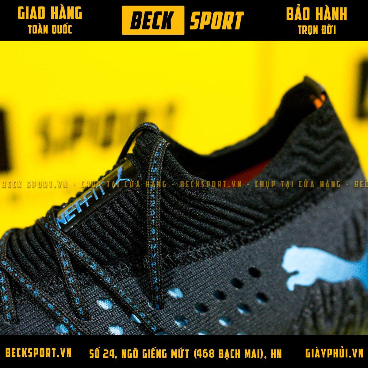 Giày Bóng Đá Puma Future 19.1 Đen Đế Cam Tím Cổ Lửng FG