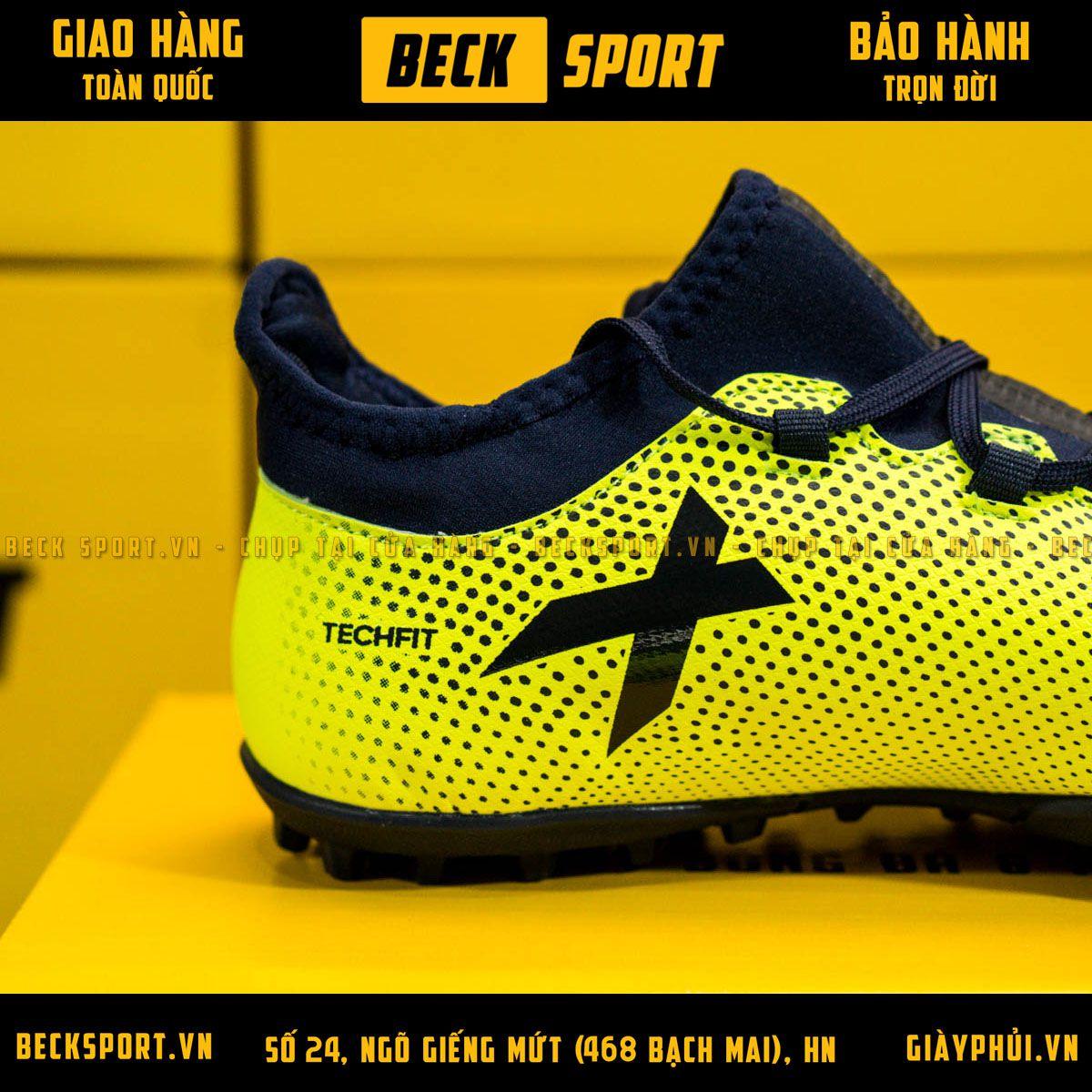 Giày Bóng Đá Adidas X 17.3 Chuối Chấm Bi Đen TF