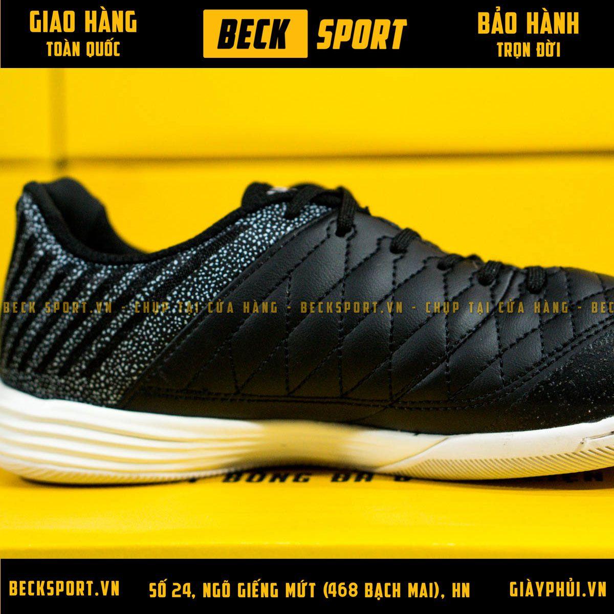 Giày Bóng Đá Nike Lunar Gato Đen Đế Trắng IC