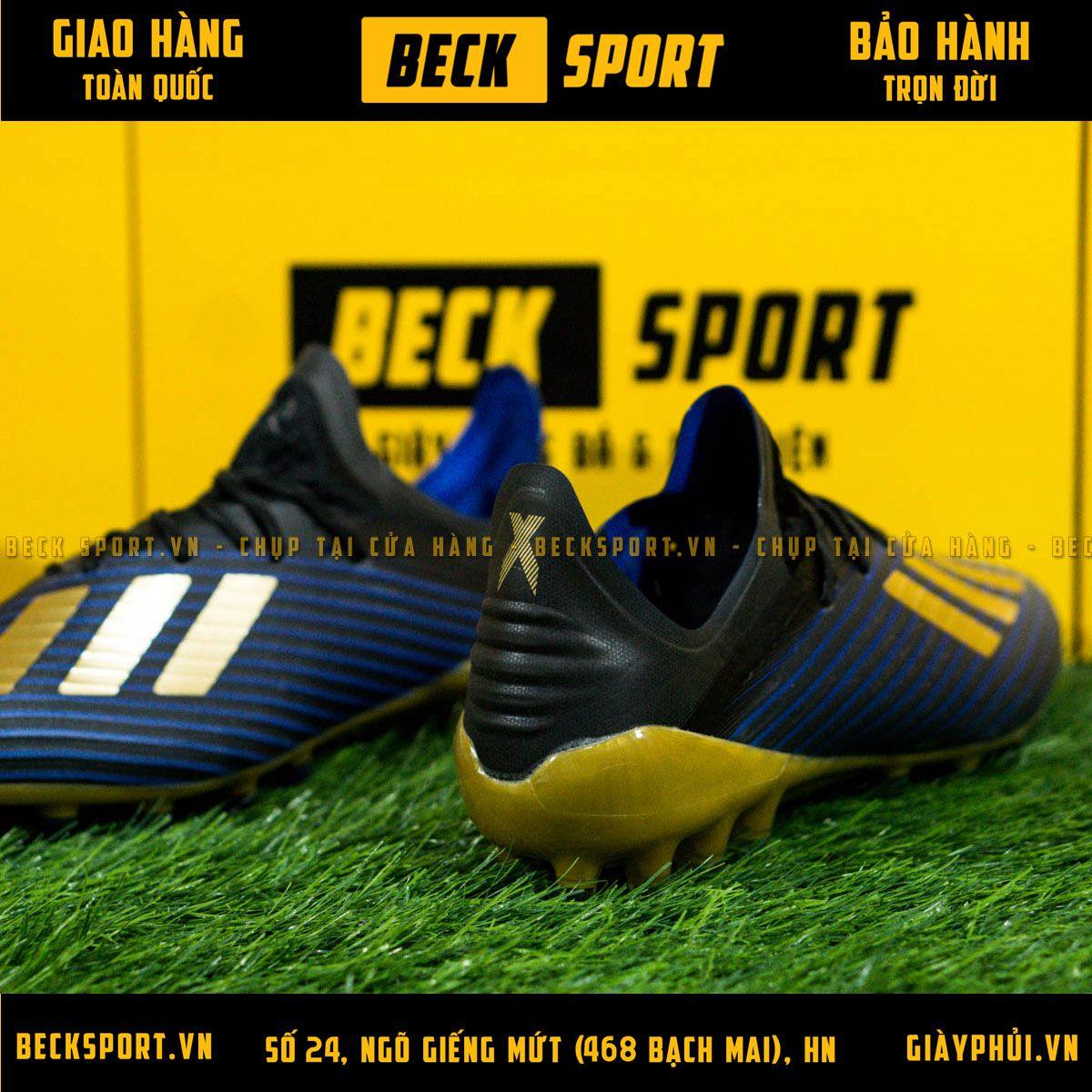 Giày Bóng Đá Adidas X 19.1 Xanh Biển Vạch Đồng AG