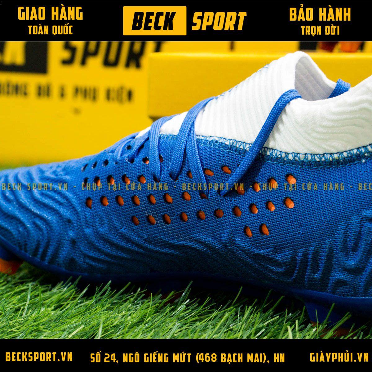 Giày Bóng Đá Puma Future 19.1 Xanh Biển Trắng Cổ Lửng FG