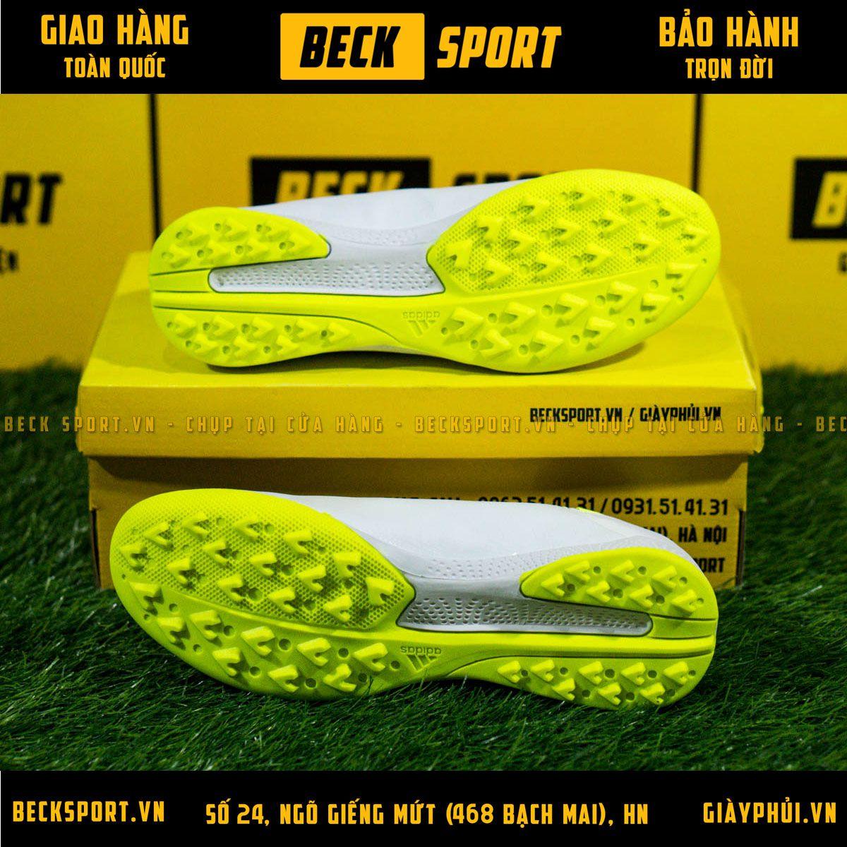 Giày Bóng Đá Adidas X 18.3 Trắng Vạch Chuối Đế Chuối V2 TF