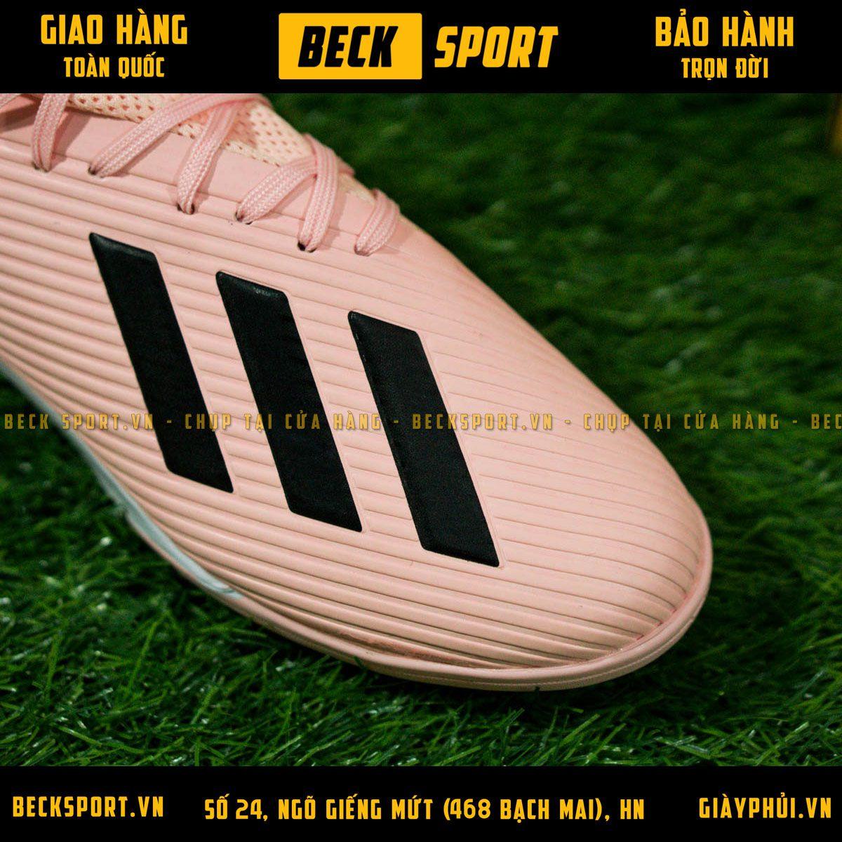 Giày Bóng Đá Adidas X 19.3 Hồng Vạch Đen V2 TF