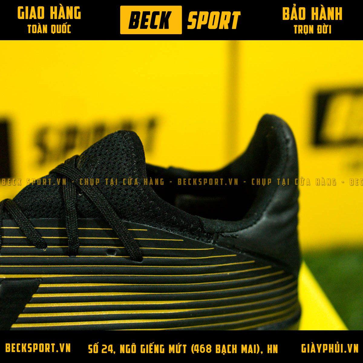 Giày Bóng Đá Adidas X 19.3 Đen Vạch Đồng V2 TF