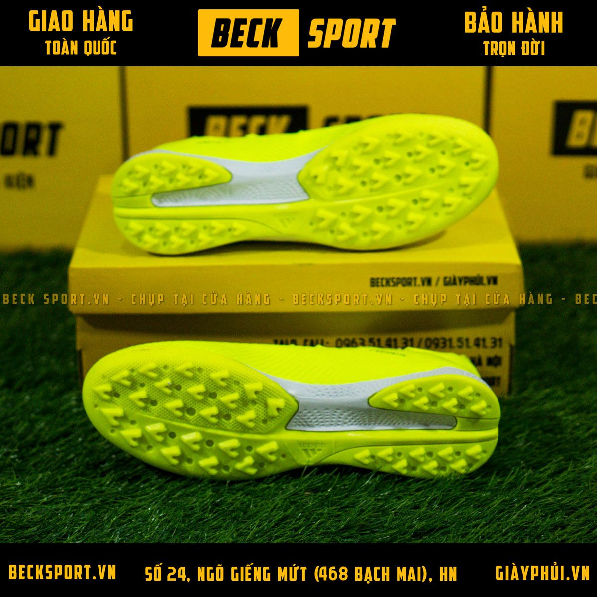 Giày Bóng Đá Adidas X 19.3 Nõn Chuối Vạch Đen V2 TF
