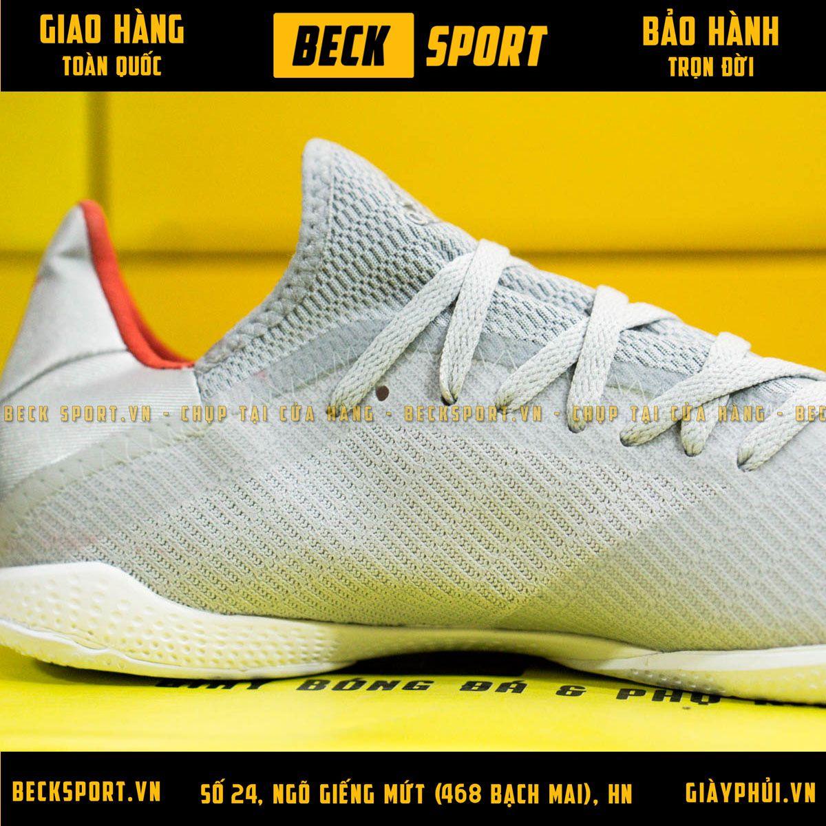 Giày Bóng Đá Adidas X 19.3 Xám Vạch Đỏ IC