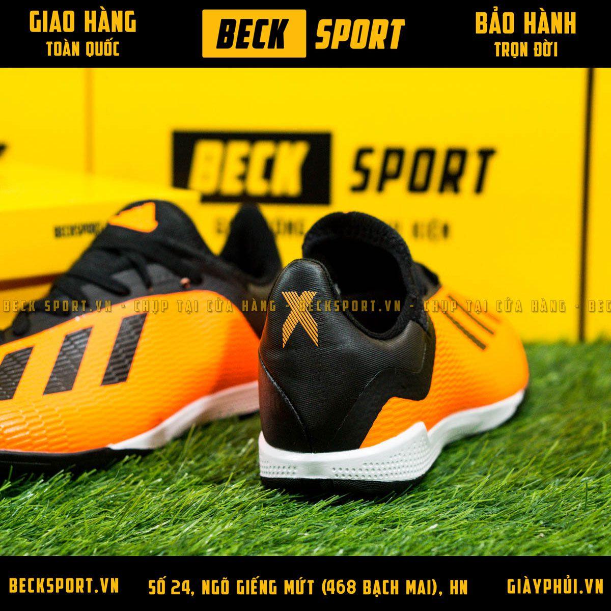 Giày Bóng Đá Adidas X 19.3 Cam Vạch Đen TF