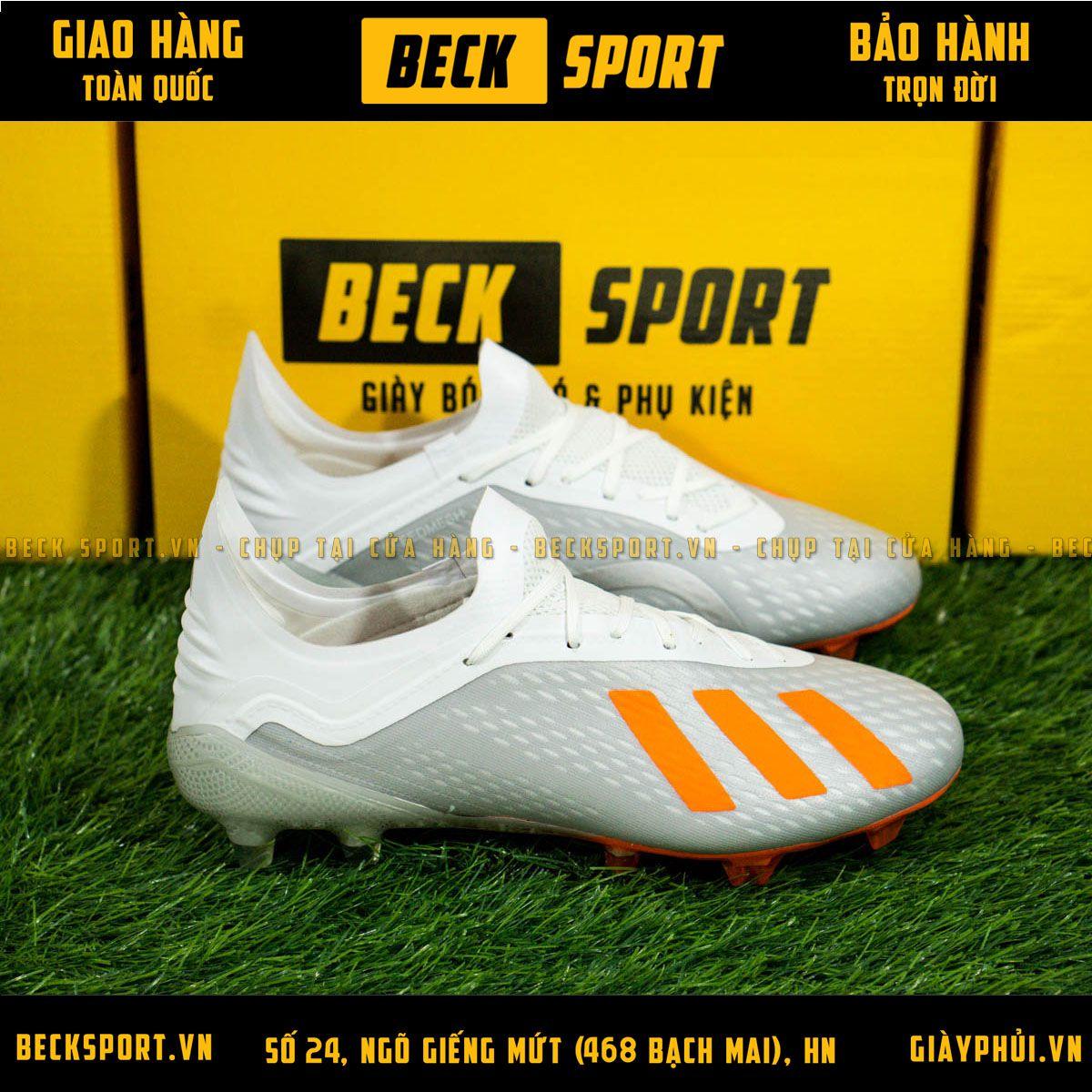 Giày Bóng Đá Adidas  X 18.1 Xám Vạch Cam FG