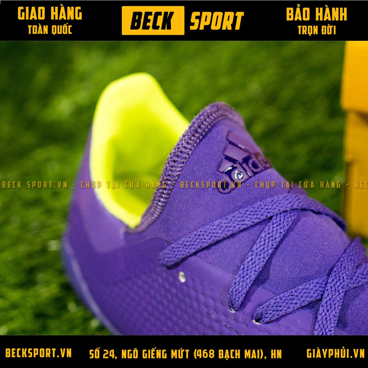 Giày Bóng Đá Adidas 18.3 Tím Vạch Chuối FG