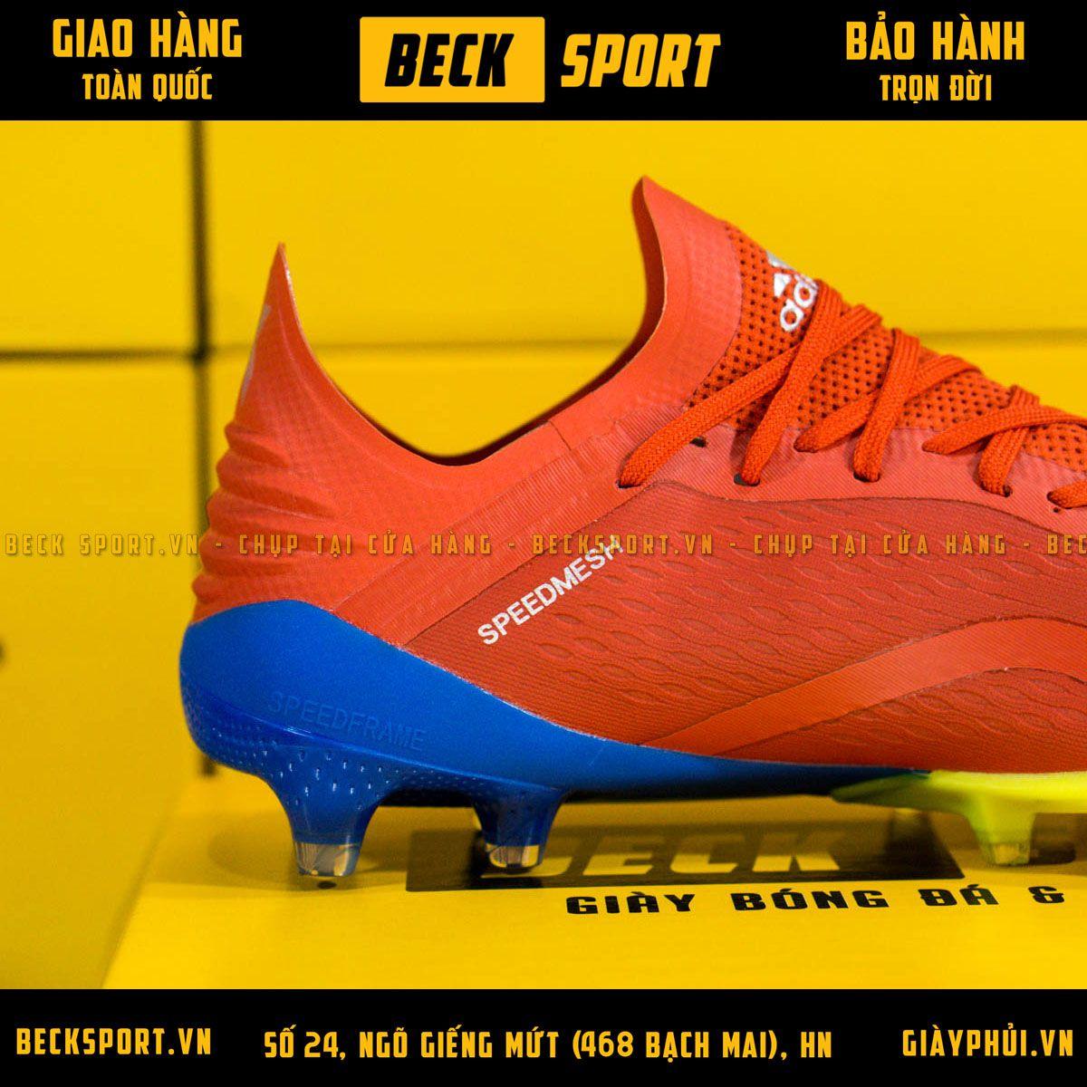 Giày Bóng Đá Adidas X 18.1 Đỏ Vạch Bạc Đế Chuối FG