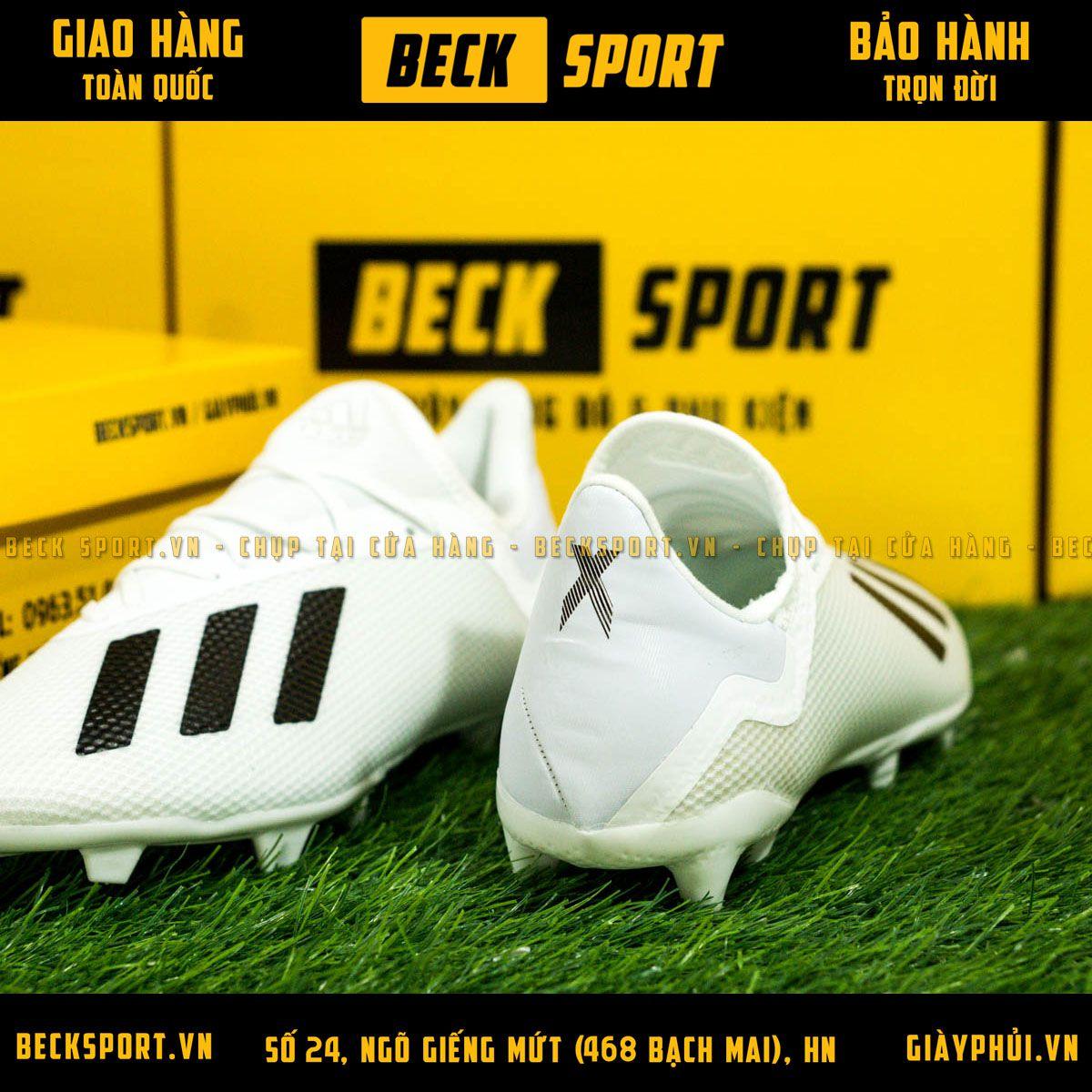 Giày Bóng Đá Adidas X 18.3 Trắng Tuyền FG
