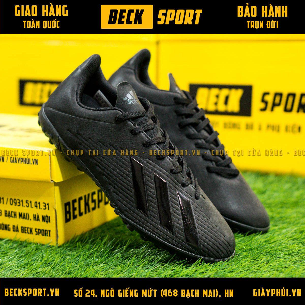 Giày Bóng Đá Adidas X 19.4 Đen Tuyền TF