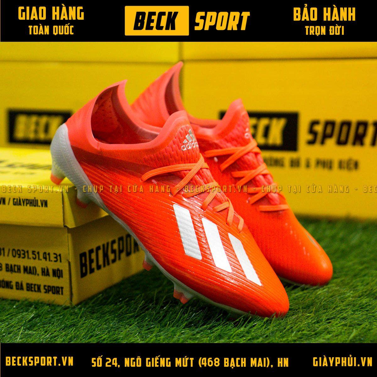 Giày Bóng Đá Trẻ Em Adidas X 19.1 Đỏ Vạch Bạc Đế Bạc FG